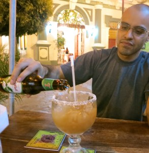 Richard has to try a beer and energy drink per country. This is from Nicaragua, his favorite country so far.